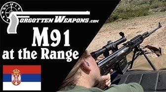 Zastava M91 at the Range