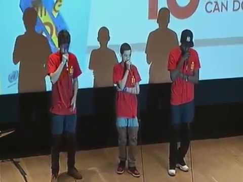 Rap Song on Nuclear Disarmament (Nicholas Sulis, Roger Pena, Kirk Pressley) i-School, New York