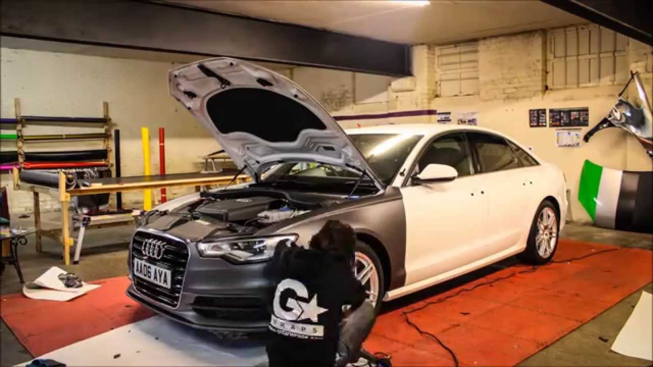 Audi A7 3 0 T >> Audi A6 S Line Charcoal Matt Metallic Wrap - YouTube