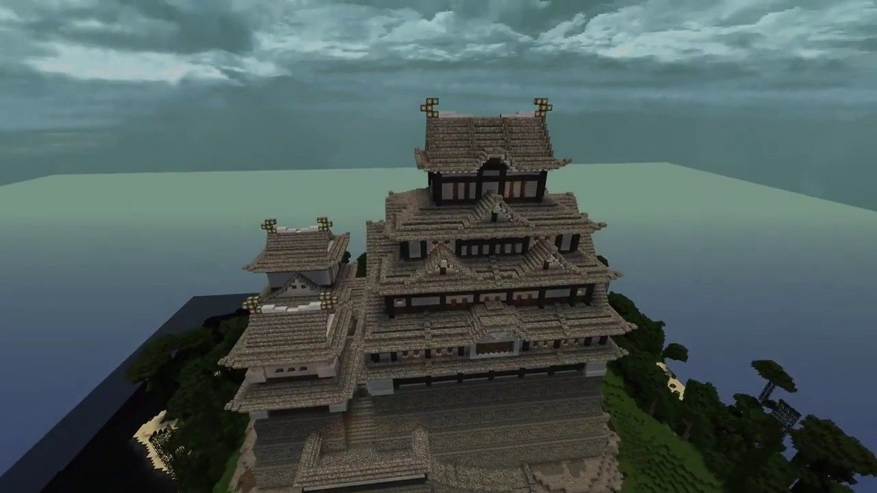 Awesome Minecraft Japanese Castle With Interior