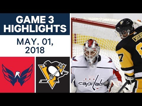 NHL Highlights | Capitals vs. Penguins, Game 3 - May. 01, 2018