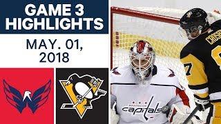 NHL Highlights | Capitals vs. Penguins, Game 3 - May. 01, 2018