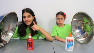 Don't Choose the Wrong Color Glue Slime Challenge