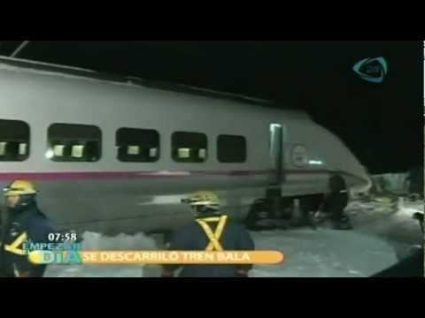 Se descarriló tren bala con 130 personas