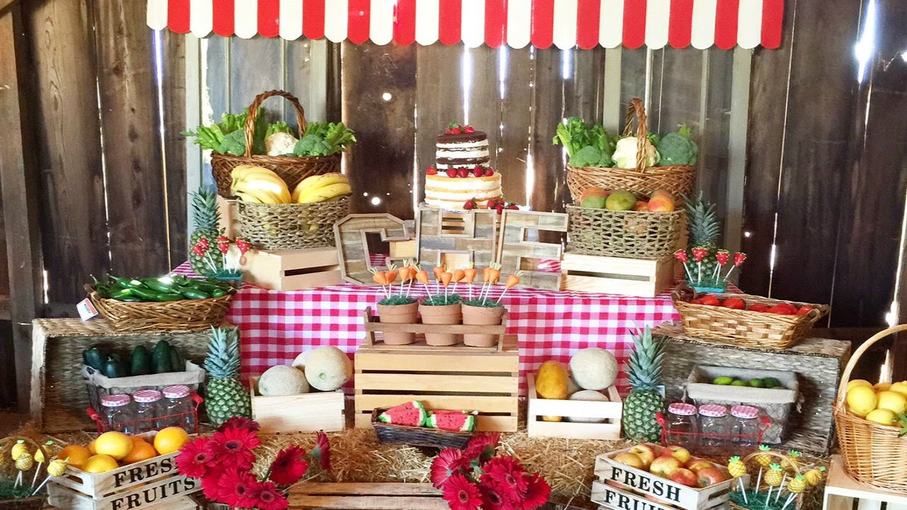 Farmer S Market Themed Birthday Youtube