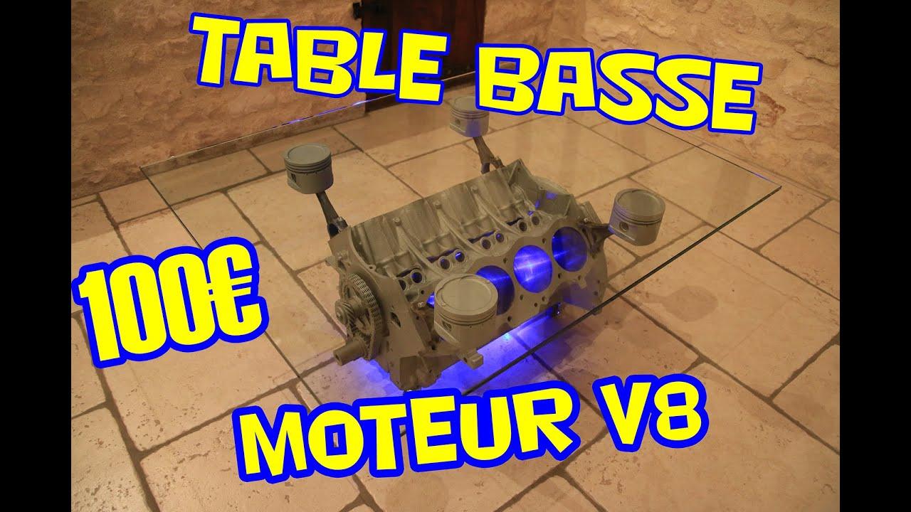 Pour 100 Je Fabrique Une Table Basse A Partir D Un Moteur V8