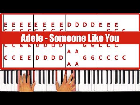 Someone Like You Adele Piano Tutorial - EASY
