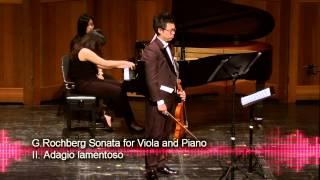 G.Rochberg Sonata for Viola and Piano