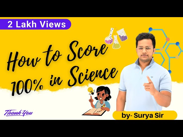How To Score 100 In Science Science 100 L Science Study Tips