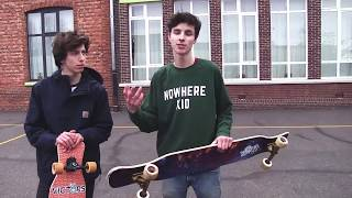 LONGBOARD Game Of S.K.A.T.E. | HANDTRICKS ONLY | Hans vs. Robbe