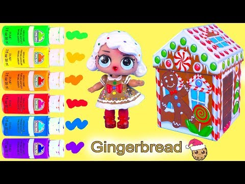 DIY LOL Surprise Christmas Gingerbread Girl Doll ! Custom Craft Painting Video