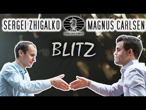 How To *almost* Win Against Carlsen / Sergei Zhigalko Vs Magnus Carlsen / Blitz / 2018