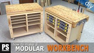 Modular Workbench & Mobile Tool Stand Build (Ep.2)