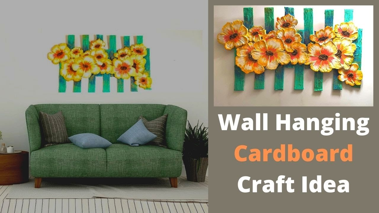 Wall hanging Craft Ideas/3D Mural wall art with Cardboard crafts