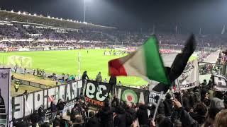 Fiorentina-Juventus 0-3 1/12/18 (settore ospiti) squadra sotto il settore ospiti