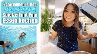 Die Kinder lernen Schwimmen 💦 Essen kochen: Jiaozi | Die Knöpfe sind da! Familienzeit | Mamiseelen