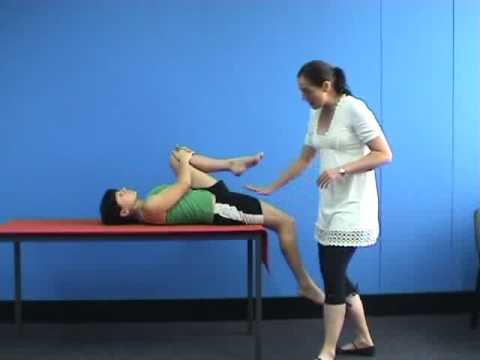 The Thomas test video from Structure and Function of the Hip and Pelvis CEC course