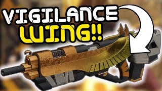 Destiny 2 - Vigilance Wing Exotic Pulse Rifle Review!! The Best PvP Weapon in the Game!?