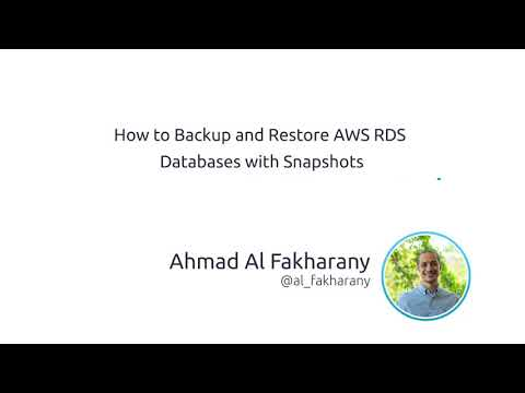 How to Backup and Restore AWS RDS Databases with Snapshots