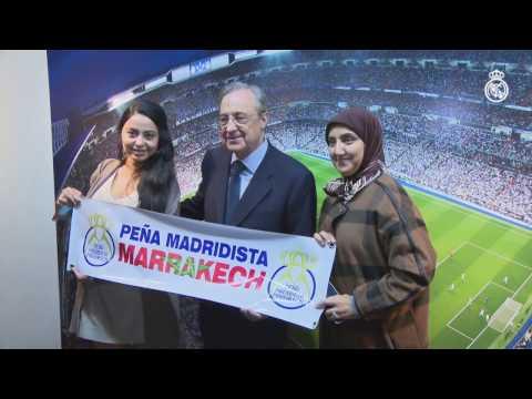 Florentino Pérez presidió el encuentro de peñas del Real Madrid en Japón