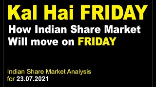 Indian Stock Market Analysis with Sushant Bakshi - How Market will behave on July 23, 2021