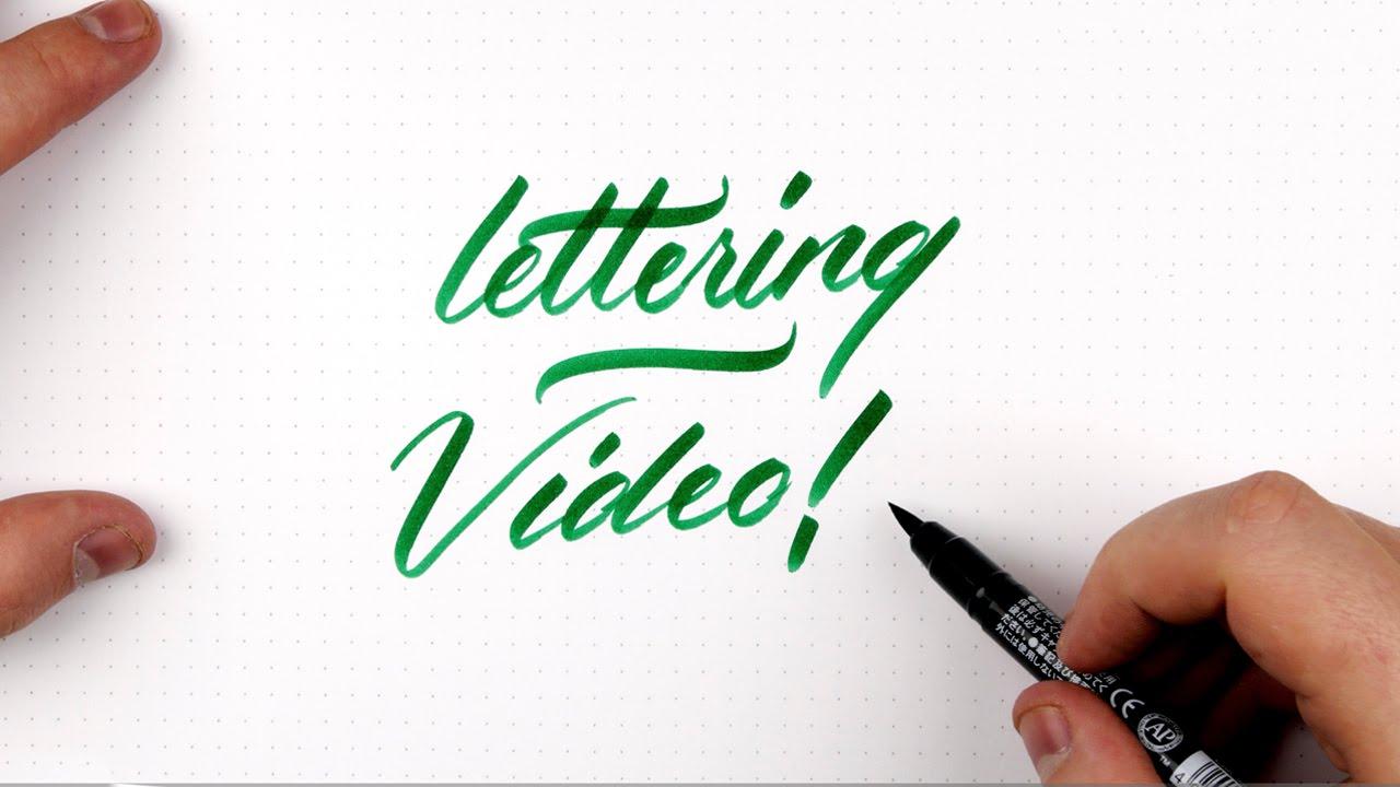hand lettering tutorial lowercase brush pen lettering youtube