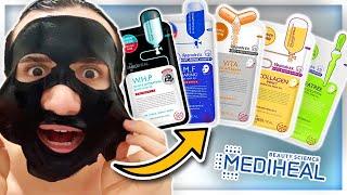 I tried ALL the MEDIHEAL sheet masks (N.M.F, Tea Tree, Collagen Impact, Vita LightBeam, W.H.P)