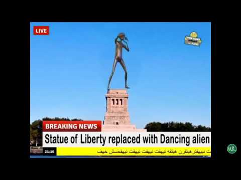statue of liberty replaced with dancing alien youtube