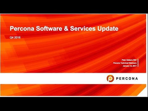 Percona Software News and Roadmap Update   Q1 2017