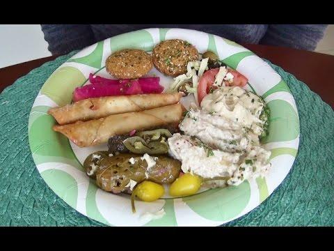 ASMR: Lebanese Vegetarian Plate | Falafel | Hummus | Eating Sounds