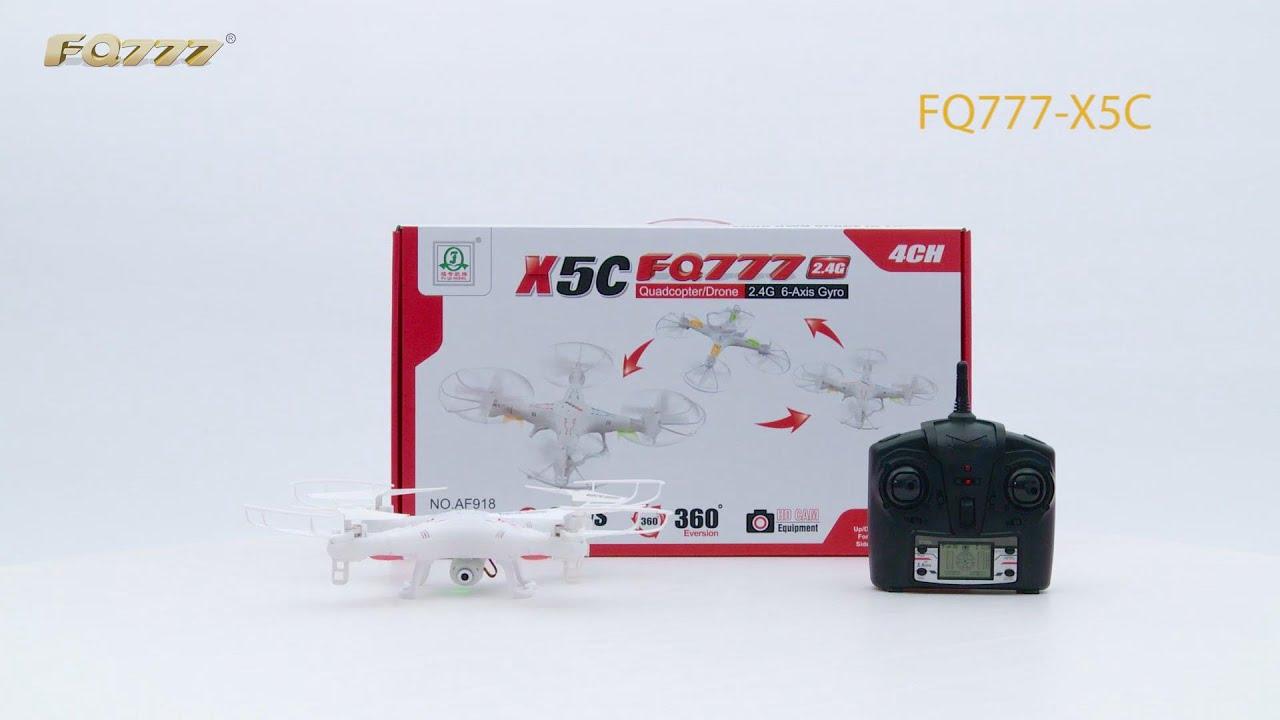 Drone X5c Fq777 24g Cmera Hd Youtube