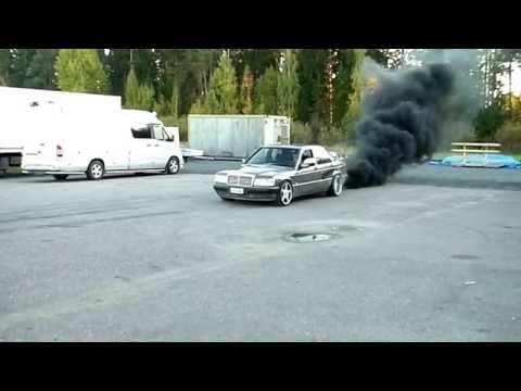 Mercedes Benz 190D Super Turbo BurnOut - YouTube
