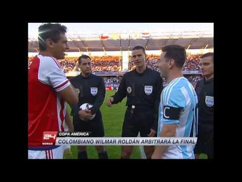 Wilmar Roldán arbitrará la final de la Copa América