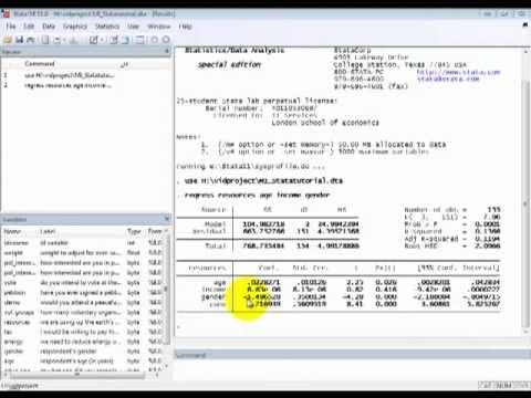 STATA Tutorials: Multiple Linear Regression