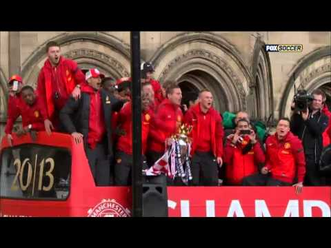 Manchester United's victory parade on May 13,2013