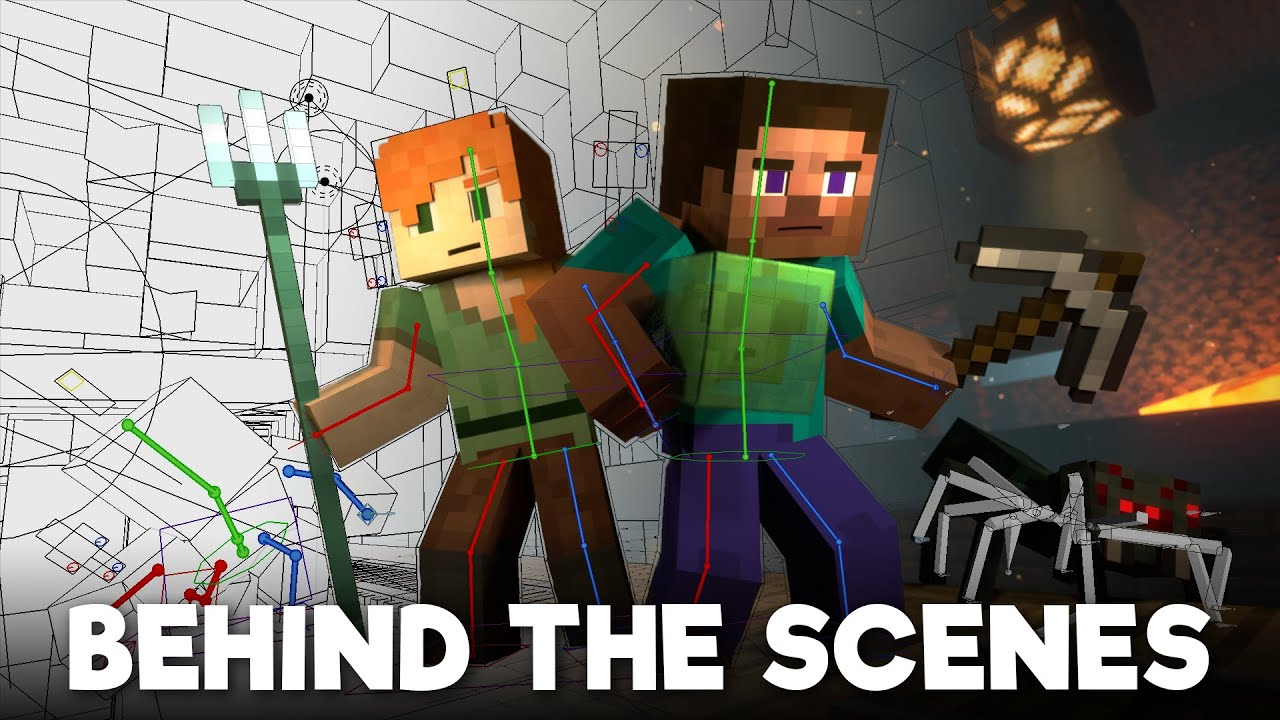 Mineshaft: BEHIND THE SCENES - Alex and Steve Life (Minecraft Animation)