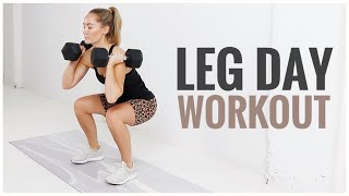 Leg Day STRENGTH Workout // For LEAN Legs