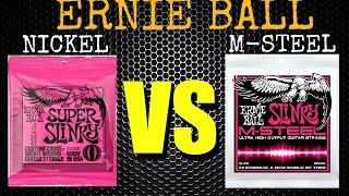 Ernie Ball M-Steel Strings VS Nickel Wound Slinkys - by Stel Andre