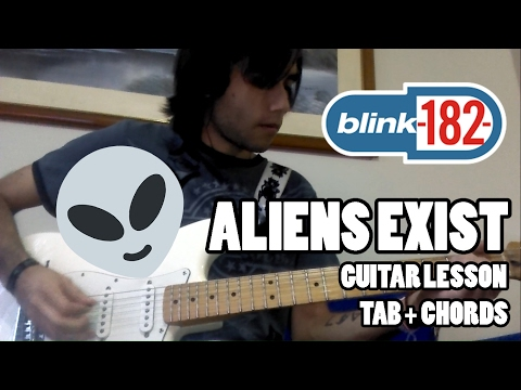 Blink-182 - Aliens Exist - Guitar lesson with TAB and chords - HQ Sound