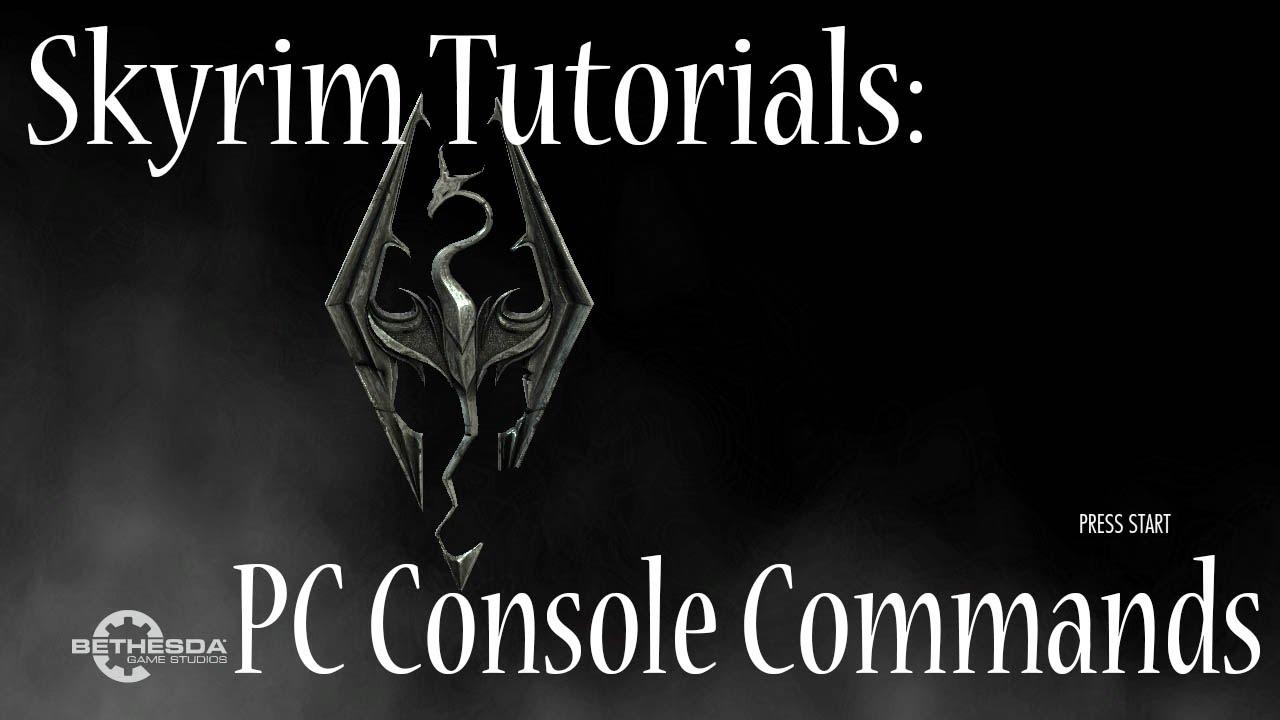 Skyrim vr console commands