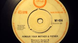 Desmond Dekker - Honor Your Mother & Father - Island Records UK 1963