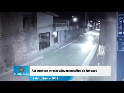 #Puebla Así intentan atracar a joven en calles de Chachapa