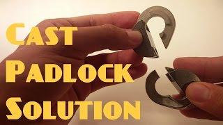 Hanayama Cast Padlock puzzle SOLUTION