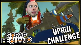 Scrap Mechanic! - MOUNTAIN CLIMB CHALLENGE! Vs AshDubh - [#3] | Gameplay |