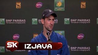 Ekskluzivno na Sport Klubu | Novak Đoković Posle Ispadanja sa Indijan Velsa | Tenis