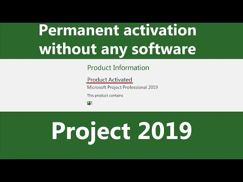 Activate Project 2019 Permanently Without Any Software & Product Key