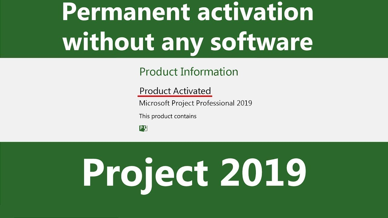 Activate Project 2019 Permanently Without Any Software Product Key Youtube