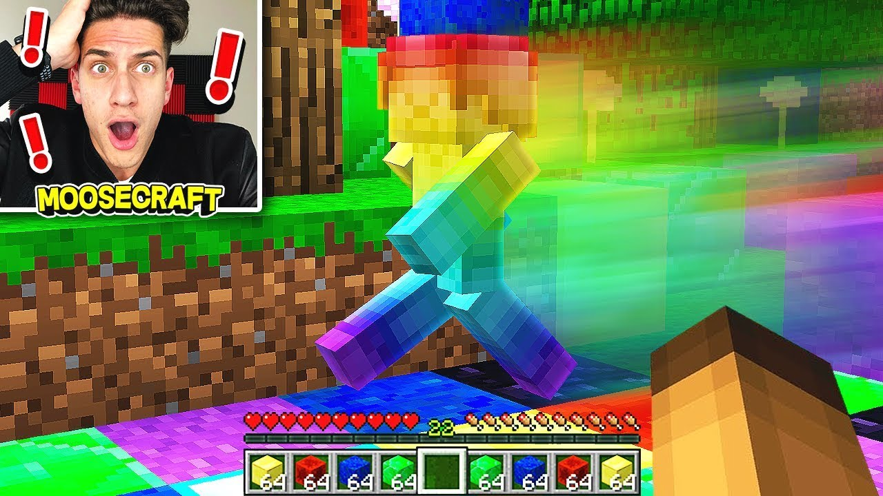 WE SUMMONED RAINBOW STEVE IN MINECRAFT! (PROOF)