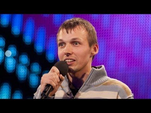 Comedian Gatis Kandis - Britain's Got Talent 2012 audition - UK version