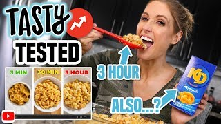 I Tried Making the TASTY 3-Minute vs. 30-Minute vs. 3-Hour MAC N' CHEESE from BUZZFEED...